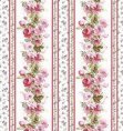 1:48th scale Rose Garland Stripe Wallpaper