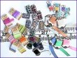 1:12th Scale 42 Piece Haberdashery Cards Kit