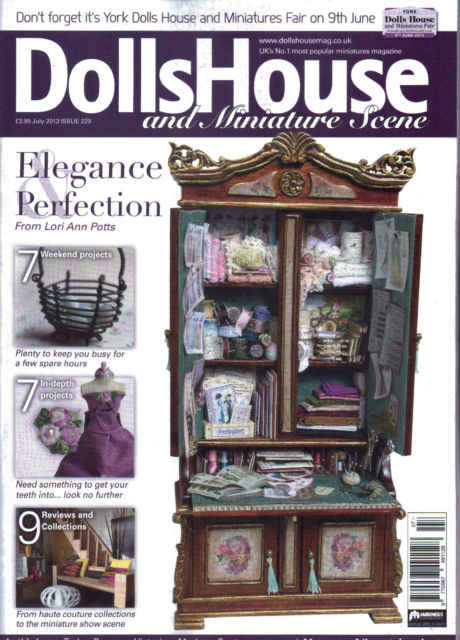 Dolls' House and Miniatures Scene Issue 229 July 2013 - Click Image to Close